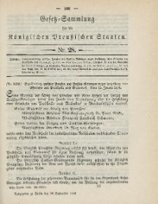 Gesetz-Sammlung für die Königlichen Preussischen Staaten, 28. September 1894, nr. 28.