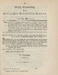 Gesetz-Sammlung für die Königlichen Preussischen Staaten, 29. November 1894, nr. 32.