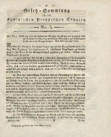 Gesetz-Sammlung für die Königlichen Preussischen Staaten, 5. März 1822, nr. 3.