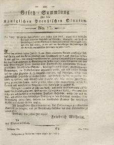Gesetz-Sammlung für die Königlichen Preussischen Staaten, 26. September 1822, nr. 17.