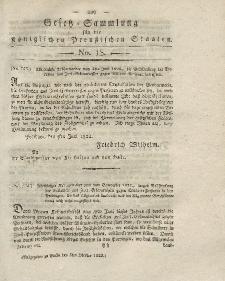 Gesetz-Sammlung für die Königlichen Preussischen Staaten, 5. Oktober 1822, nr. 18.