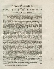 Gesetz-Sammlung für die Königlichen Preussischen Staaten, 23. Dezember 1823, nr. 19.