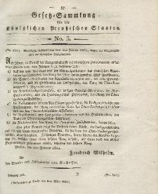 Gesetz-Sammlung für die Königlichen Preussischen Staaten, 6. März 1824, nr. 5.