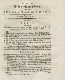 Gesetz-Sammlung für die Königlichen Preussischen Staaten, 13. April 1824, nr. 6.