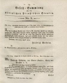 Gesetz-Sammlung für die Königlichen Preussischen Staaten, 22. Mai 1824, nr. 8.
