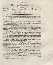 Gesetz-Sammlung für die Königlichen Preussischen Staaten, 7. August 1824, nr. 15.