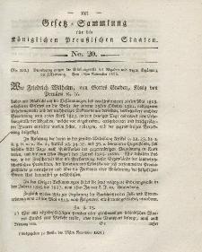 Gesetz-Sammlung für die Königlichen Preussischen Staaten, 25. November 1824, nr. 20.