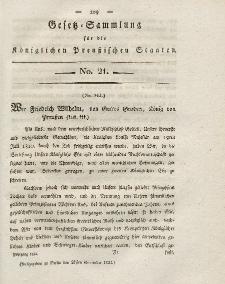 Gesetz-Sammlung für die Königlichen Preussischen Staaten, 27. November 1824, nr. 21.