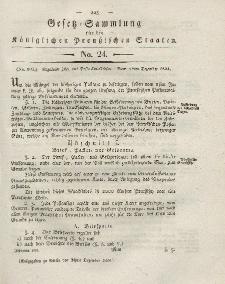 Gesetz-Sammlung für die Königlichen Preussischen Staaten, 24. Dezember 1824, nr. 24.