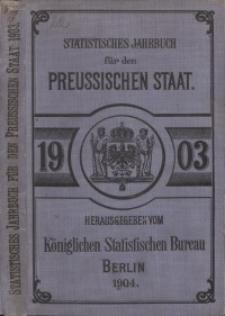 Statistisches Jahrbuch für den Preussischen Staat, 1. Jahrgang 1903