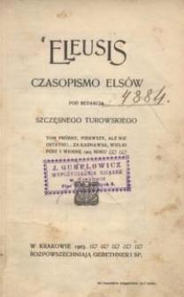 Eleusis : czasopismo Elsów pod redakcją Szczęsnego Turowskiego
