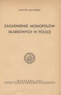 Zagadnienie monopolów skarbowych w Polsce