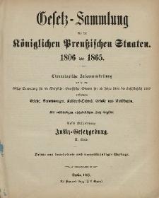 Gesetz-Sammlung für die Königlichen Preussischen Staaten : 1806-1865 : II. Band