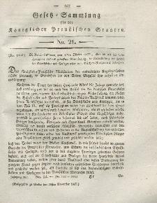 Gesetz-Sammlung für die Königlichen Preussischen Staaten, 20. November 1827, nr. 21.