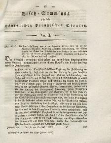 Gesetz-Sammlung für die Königlichen Preussischen Staaten, 13. Februar 1828, nr. 3.