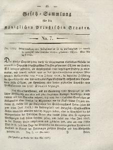 Gesetz-Sammlung für die Königlichen Preussischen Staaten, 6. Mai 1828, nr. 7.