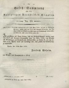 Gesetz-Sammlung für die Königlichen Preussischen Staaten, 24. Juni 1828, nr. 12.