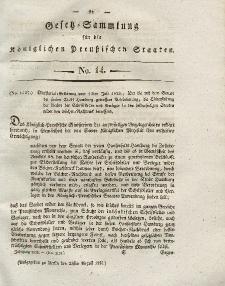 Gesetz-Sammlung für die Königlichen Preussischen Staaten, 23. August 1828, nr. 14.