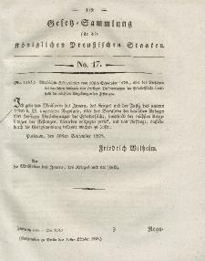 Gesetz-Sammlung für die Königlichen Preussischen Staaten, 31. Oktober 1828, nr. 17.