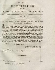 Gesetz-Sammlung für die Königlichen Preussischen Staaten, 3. März 1828, nr. 3.