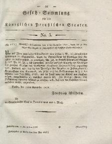 Gesetz-Sammlung für die Königlichen Preussischen Staaten, 9. Mai 1828, nr. 5.