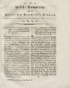 Gesetz-Sammlung für die Königlichen Preussischen Staaten, 19. Mai 1828, nr. 6.