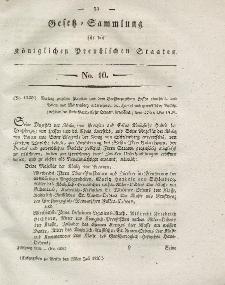 Gesetz-Sammlung für die Königlichen Preussischen Staaten, 25. Juli 1828, nr. 10.