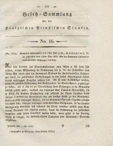 Gesetz-Sammlung für die Königlichen Preussischen Staaten, 19. Oktober 1828, nr. 16.
