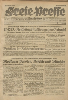 Freie Presse, Nr. 25 Donnerstag 30. Januar 1930 6. Jahrgang