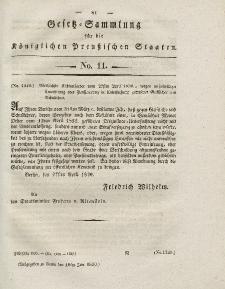Gesetz-Sammlung für die Königlichen Preussischen Staaten, 18. Juni 1830, nr. 11.