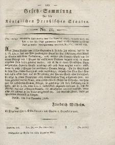 Gesetz-Sammlung für die Königlichen Preussischen Staaten, 12. Dezember 1826, nr. 16.