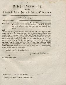 Gesetz-Sammlung für die Königlichen Preussischen Staaten, 19. Dezember 1826, nr. 17.