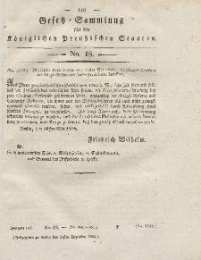 Gesetz-Sammlung für die Königlichen Preussischen Staaten, 31. Dezember 1826, nr. 18.