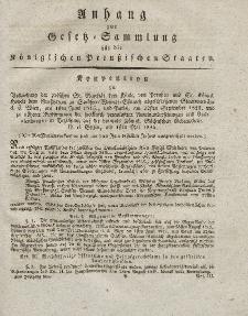 Gesetz-Sammlung für die Königlichen Preussischen Staaten (Anhang) 1826