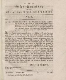 Gesetz-Sammlung für die Königlichen Preussischen Staaten, 29. April 1833, nr. 5.