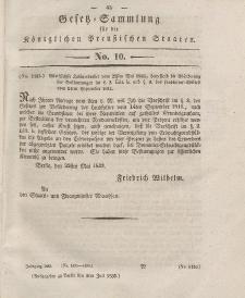 Gesetz-Sammlung für die Königlichen Preussischen Staaten, 02. Juli 1833, nr. 10.
