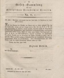Gesetz-Sammlung für die Königlichen Preussischen Staaten, 10. Juli 1833, nr. 11.