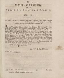Gesetz-Sammlung für die Königlichen Preussischen Staaten, 30. Oktober 1833, nr. 18.