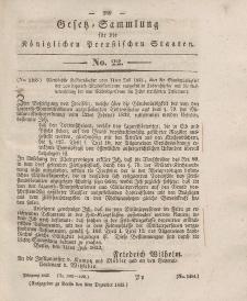 Gesetz-Sammlung für die Königlichen Preussischen Staaten, 9. Dezember 1833, nr. 22.