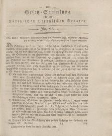 Gesetz-Sammlung für die Königlichen Preussischen Staaten, 20. Dezember 1833, nr. 23.