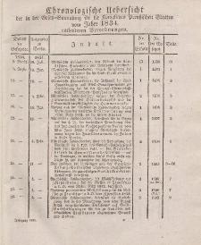 Gesetz-Sammlung für die Königlichen Preussischen Staaten (Chronologische Uebersicht), 1834