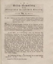 Gesetz-Sammlung für die Königlichen Preussischen Staaten, 13. März 1834, nr. 4.