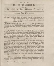 Gesetz-Sammlung für die Königlichen Preussischen Staaten, 14. Juli 1834, nr. 13.