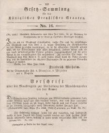 Gesetz-Sammlung für die Königlichen Preussischen Staaten, 5. August 1834, nr. 16.