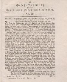 Gesetz-Sammlung für die Königlichen Preussischen Staaten, 6. Oktober 1834, nr. 21.