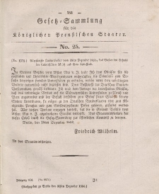 Gesetz-Sammlung für die Königlichen Preussischen Staaten, 31. Dezember 1834, nr. 25.