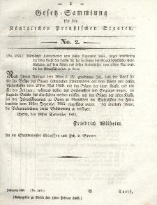 Gesetz-Sammlung für die Königlichen Preussischen Staaten, 12. Februar 1835, nr. 2.