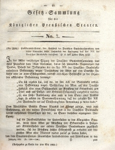 Gesetz-Sammlung für die Königlichen Preussischen Staaten, 5. Mai 1835, nr. 7.