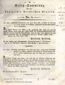 Gesetz-Sammlung für die Königlichen Preussischen Staaten, 12. Mai 1835, nr. 8.