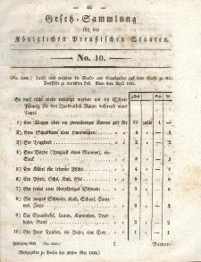 Gesetz-Sammlung für die Königlichen Preussischen Staaten, 29. Mai 1835, nr. 10.